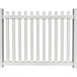 Melrose White Vinyl Picket Panel