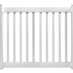 Savannah White Vinyl Picket Fence Panel