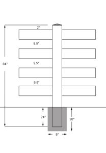 4 rail fence profile