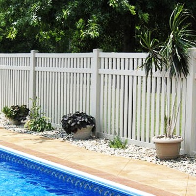 Savannah White Vinyl Picket Fence