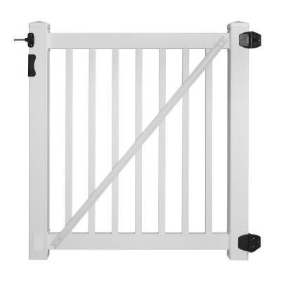 Savannah White Vinyl Gate
