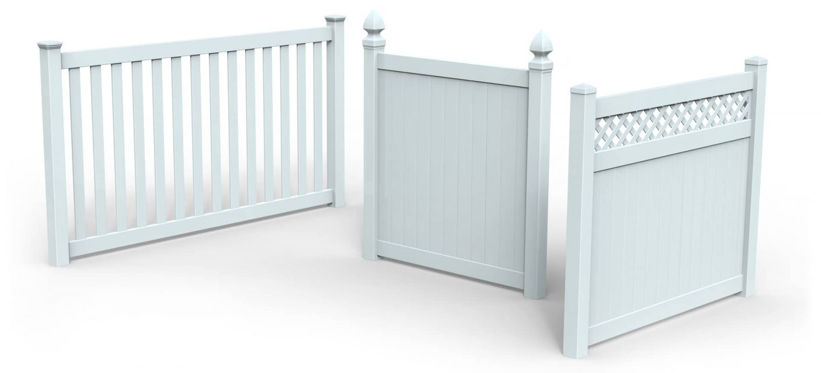 White Vinyl Fence Privacy Panels